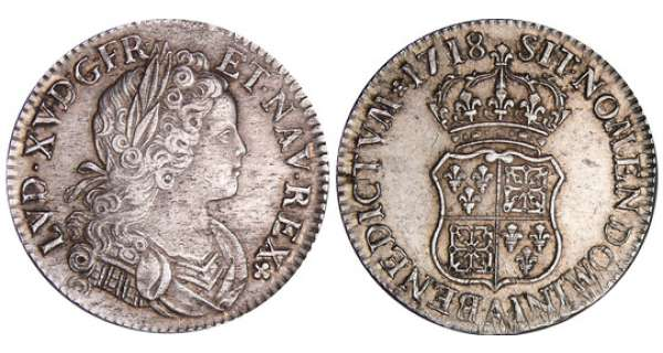 Louis XV (1715-1774) - Ecu de France-Navarre - 1718 A (Paris)