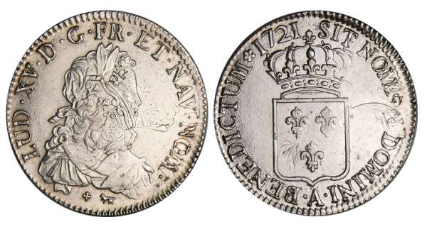Louis XV (1715-1774) - Ecu de France - 1721 A (Paris)