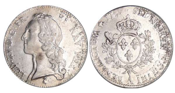 Louis XV (1715-1774) - Ecu au bandeau - 1759 A (Paris) Double frappe