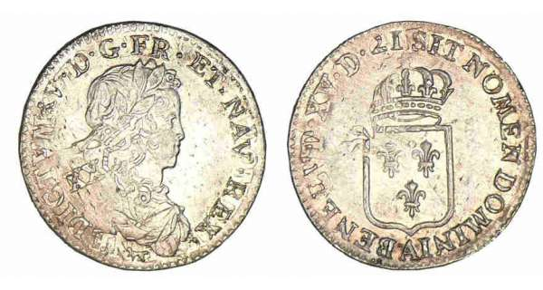 Louis XV (1715-1774) - 1/6 d'écu de France - 1721 A (Paris)