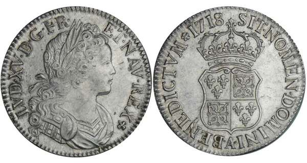 Louis XV - Ecu de France-Navarre - 1718 A (Paris)