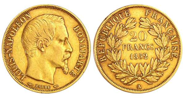 Louis Napoléon Bonaparte (1848-1852) - 20 francs 1852 A (Paris)
