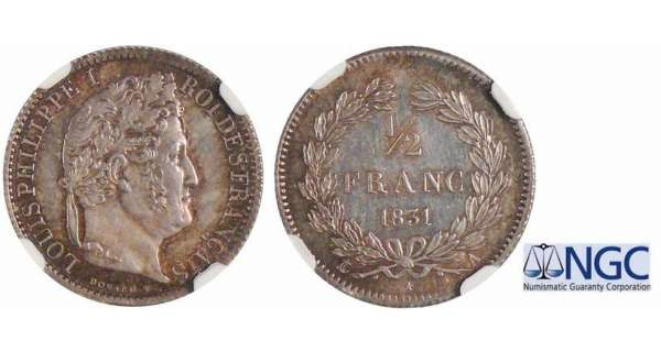 Louis-Philippe Ier (1830-1848) - 1/2 franc 1831 A (Paris)