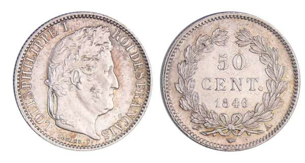 Louis-Philippe Ier (1830-1848) - 50 centimes 1846 A (Paris)