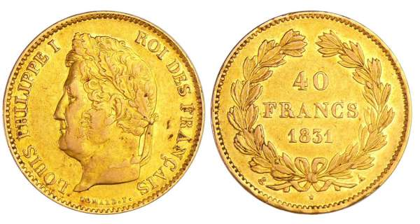 Louis-Philippe Ier (1830-1848) - 40 francs 1831 A (Paris)
