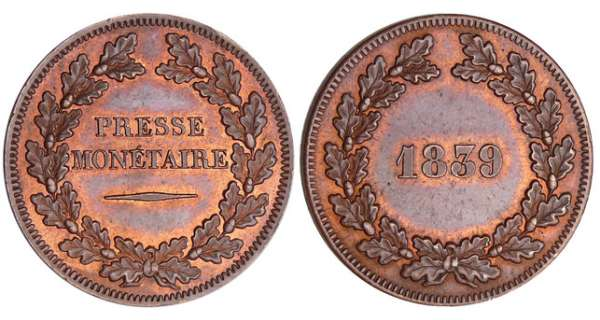 Louis-Philippes - Essai au module de la 10 centimes 1839