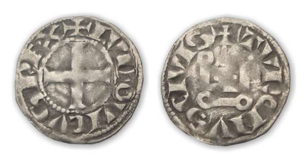 Louis IX (Saint-Louis) - Denier tournois A/ + LVDOVICVS RE.X Croix. R/ + TVRONVS CIVIS Châtel tournois.