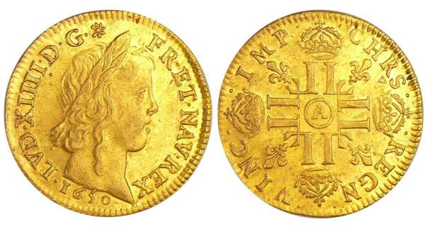 Louis XIV (1643-1715) - Louis d'or à la mèche longue -  1650 A (Paris)