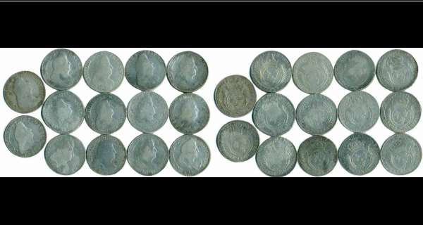 Louis XIV - Ecu aux palmes - Lot de 14 écus