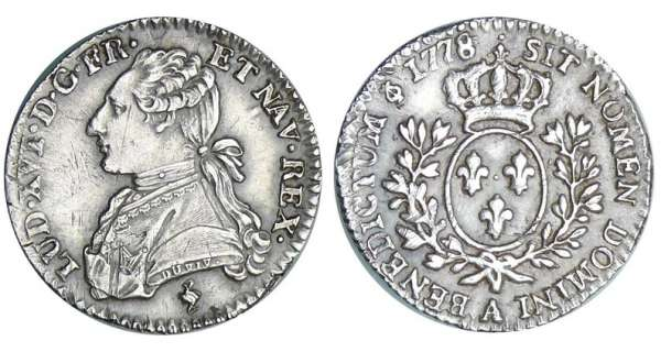 Louis XVI (1774-1792) - 1/10 cu aux branches dolivier - 1778 A (Paris) 1er sem