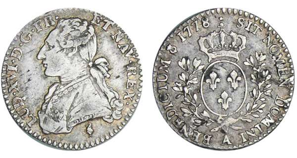 Louis XVI (1774-1792) - 1/10 cu aux branches dolivier - 1778 A (Paris) 2me sem