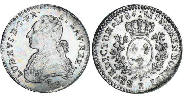 Louis XVI (1774-1792) - 1/10 cu aux branches dolivier - 1786 R (Orlans)