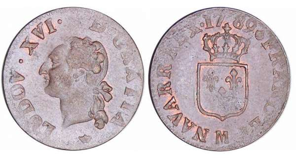 Louis XVI (1774-1792) - Liard - 1789 M (Toulouse)