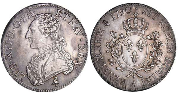Louis XVI (1774-1792) - Ecu aux branches dolivier - 1790 A (Paris)