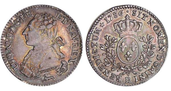 Louis XVI (1774-1792) - 1/5 cu aux branches dolivier - 1786 R (Orlans)