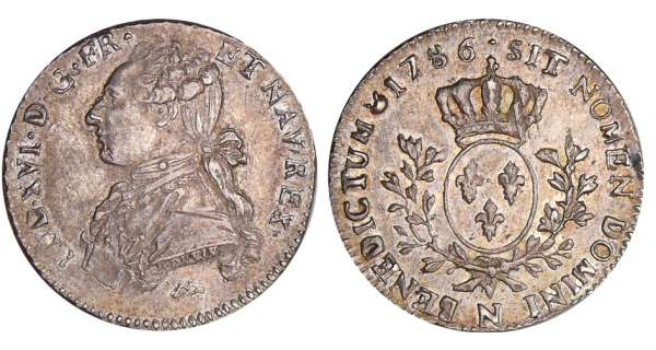 Louis XVI (1774-1792) - 1/5 cu aux branches dolivier - 1786 N (Montpellier)