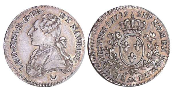 Louis XVI (1774-1792) - 1/10 cu aux branches dolivier - 1779 AA (Metz)