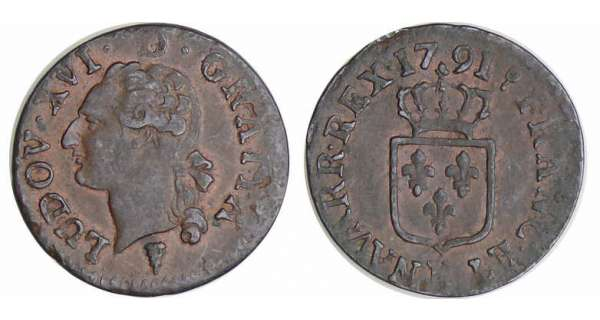 Louis XVI (1774-1792) - Liard - 1791 K (Bordeaux)