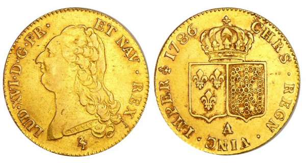 Louis XVI (1774-1792) - Double louis d'or au buste nu - 1786 A (Paris) 1er sem
