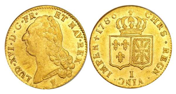 Louis XVI (1774-1792) - Double louis d'or au buste nu - 1786 I (Limoges) 1er sem
