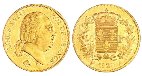 Louis XVIII (1815-1824) - 40 francs 1820 A (Paris)