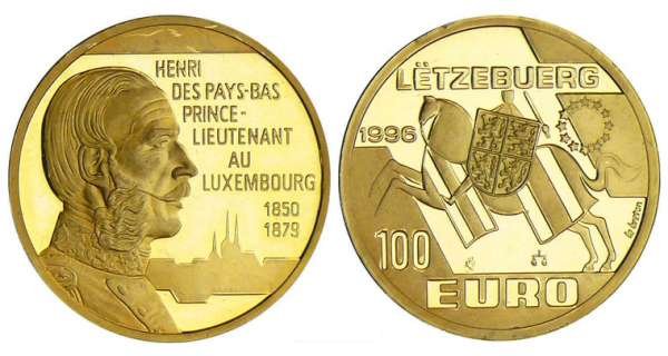 Luxembourg - 100 euro 1996