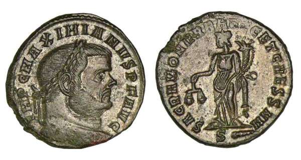 Maximien Hercule - Follis (Rome)