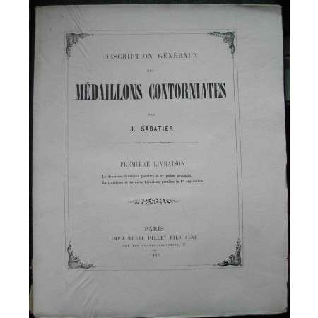 Mdaillons contorniates par J. Sabatier - 1860
