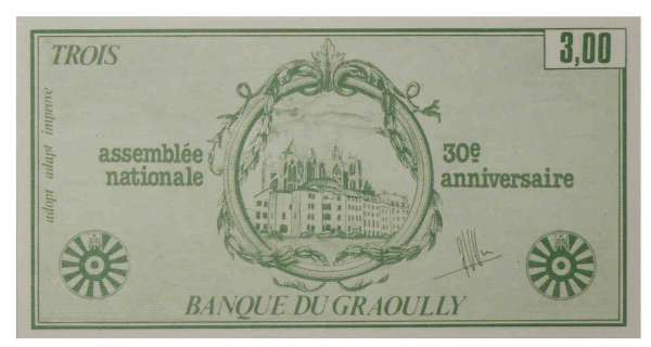 Metz - Banque du Graoully - 3 francs -1980
