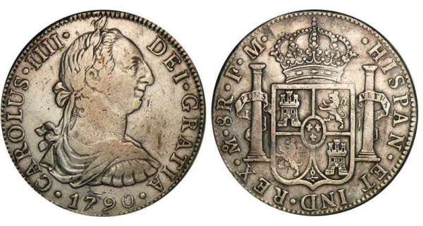 Mexique - Charles III - 8 reales 1790 (Mexico)