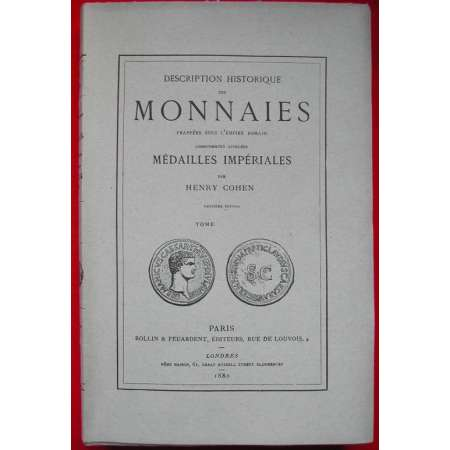 Monnaies romaines Cohen Tome 5 - 1880
