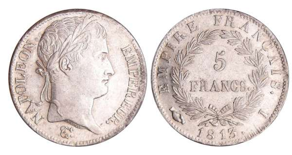 Napoléon 1er (1804-1814) - 5 francs revers empire 1813 I (Limoges)