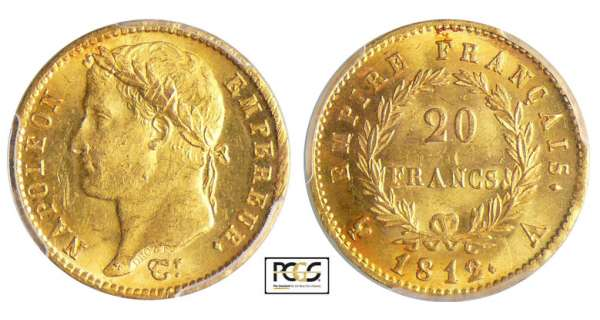 Napoléon 1er (1804-1814) - 20 francs revers empire 1812 A (Paris)