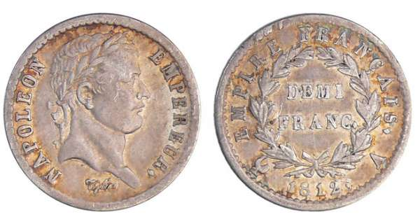 Napoléon 1er (1804-1814) - 1/2 franc revers empire 1812 A (Paris)