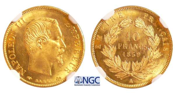 Napoléon III (1852-1870) - 10 francs grand module 1859 A (Paris)