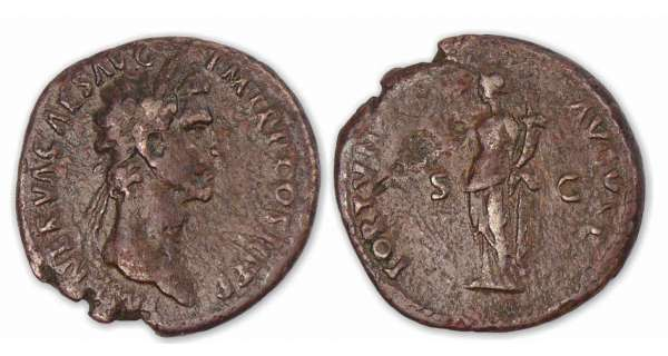 Nerva - As (97, Rome) La Fortune.