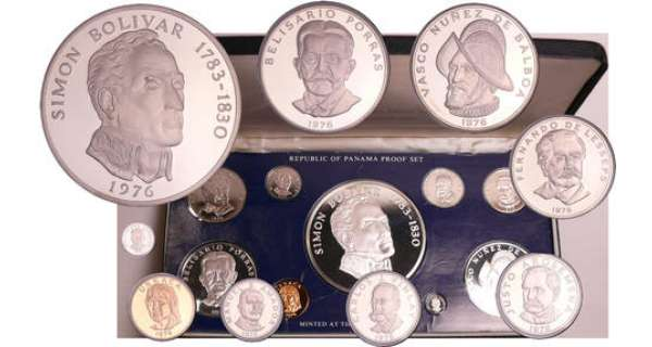 Panama - Coffret Proof 1976 9 monnaies