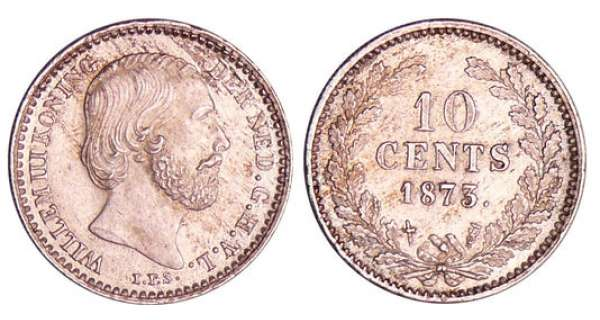 Pays-Bas - Willem III (1849-1890) - 10 cents 1873