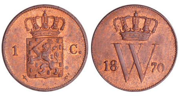 Pays-Bas - Willem III (1849-1890) - 1 cent 1870