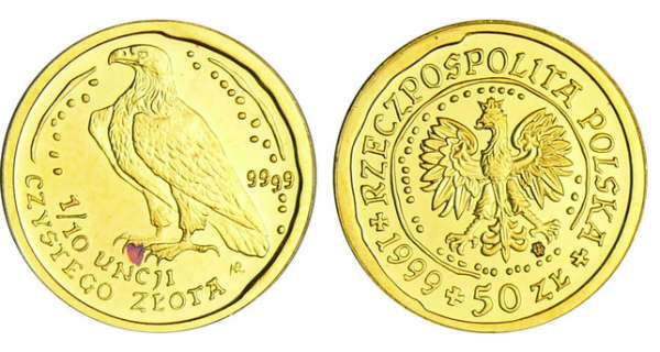 Pologne - 50 Zlotys 1999 - 1/10 d'once