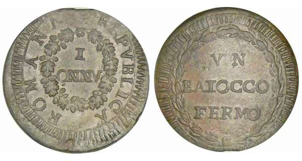 Rpublique de Rome - Fermo - Baiocco