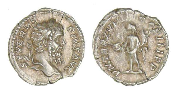 Septime Svre - Denier (208,Rome) Le Gnie