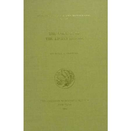 The coinage of the Lycian league - The American Numismatic Society - 1982 The coinage of the Lycian league by the American Numismatic Society - 1982 - 256 pages et dos cousu de couleur beige.