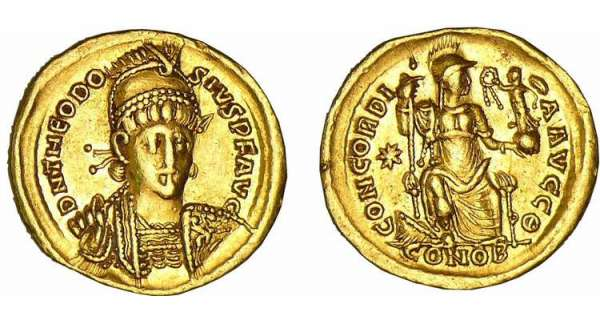 Thodose II - Solidus (Constantinople)
