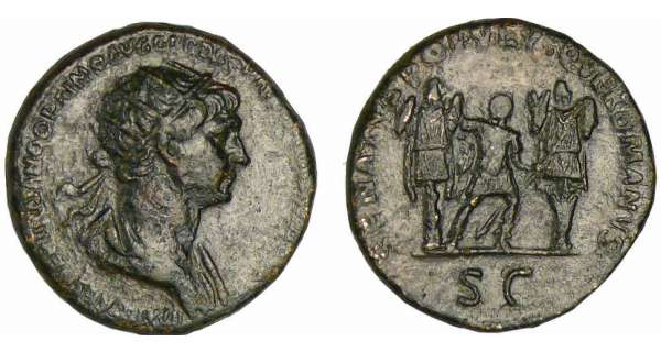 Trajan - Dupondius (100, Rome) - La Paix
