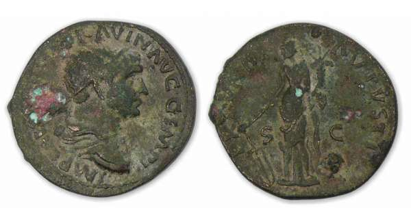Trajan - Dupondius (101/3, Rome) La Fortune.