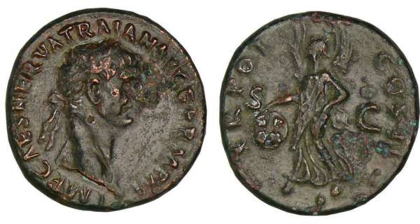 Trajan - As (99, Rome) - La Victoire