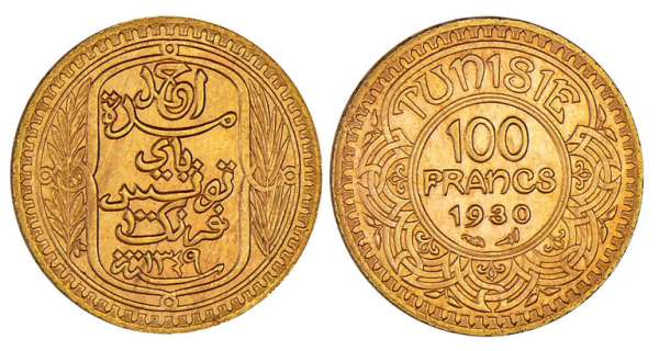 Tunisie - Ahmed (1929-1942) - 100 francs 1930
