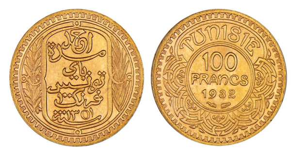 Tunisie - Ahmed (1929-1942) - 100 francs 1932