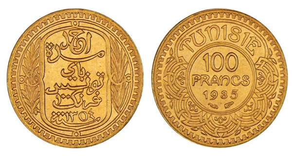 Tunisie - Ahmed (1929-1942) - 100 francs 1935